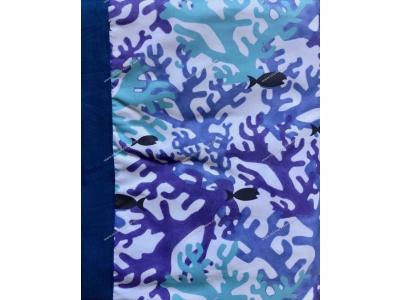 Telo Lettino Coral Fish Blu
