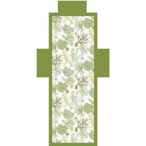 Telo Lettino Corallo Verde