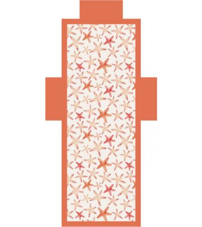 Telo Lettino Stelle Arancione