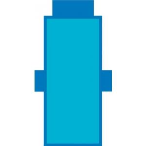 Telo Lettino Tinta Unita Azzurro e Blu con cuscino gonfiabile e tasche laterali