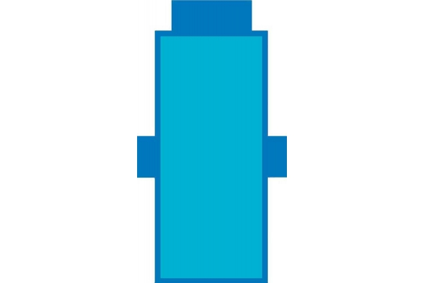 Telo Lettino Tinta Unita Azzurro