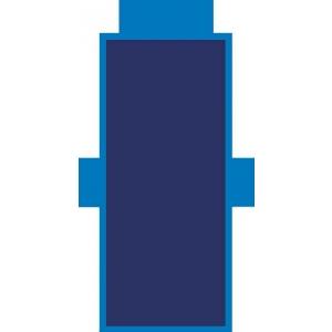 Telo Lettino Tinta Unita Blu