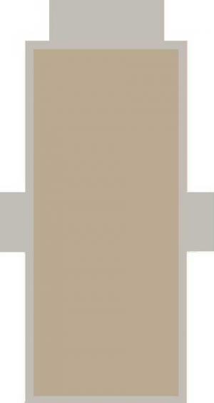 Telo Lettino Tinta Unita Sabbia con cuscino gonfiabile e tasche laterali