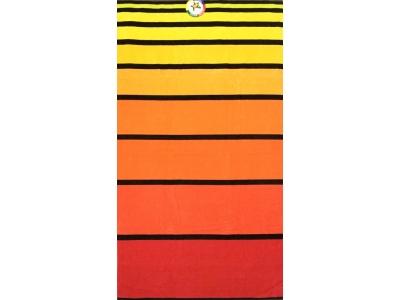 Telo mare Big Stripe Arancione