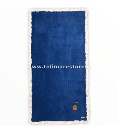 Telo Mare Blu Royal Bordo Sangallo