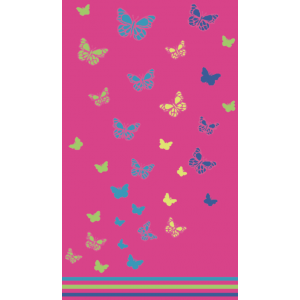Telo Mare Butterfly Fucsia