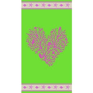 Telo Mare Corallo Verde Lime
