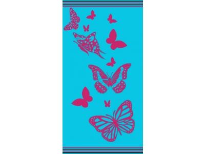 Telo Mare Farfalla Azzurro