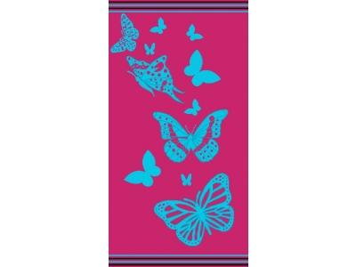 Telo Mare Farfalla Fucsia