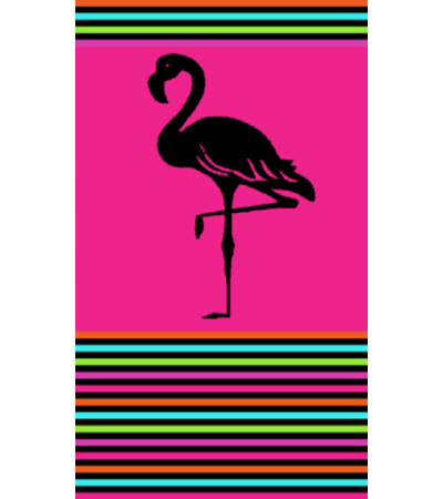 Telo Mare Flamingo Degradé Fucsia
