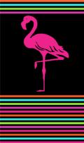 Telo Mare Flamingo Degradé Nero