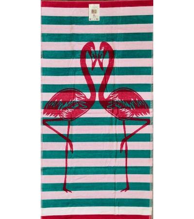 Telo Mare Flamingo Love Fucsia
