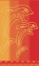 Telo Mare Flipper Arancione