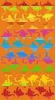 Telo Mare Geko Multicolor Arancio