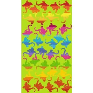 Telo Mare Geko Multicolor Verde
