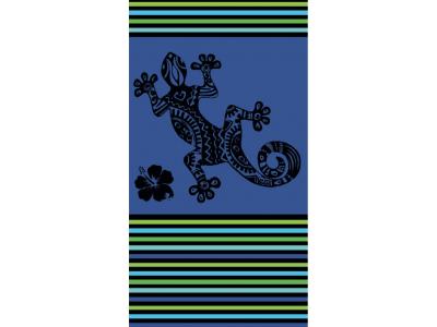 Telo Mare Geko Multistripe Azzurro