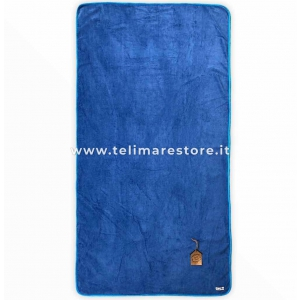 Telo Mare Marisol Blu Pon Pon Azzurro