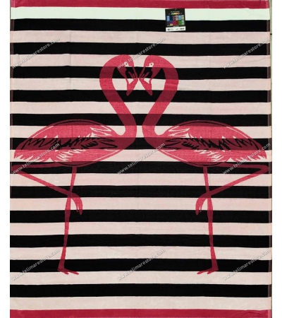 Telo Mare Matrimoniale Flamingo Love