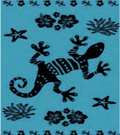 Telo Mare Matrimoniale Koral Geko Azzurro