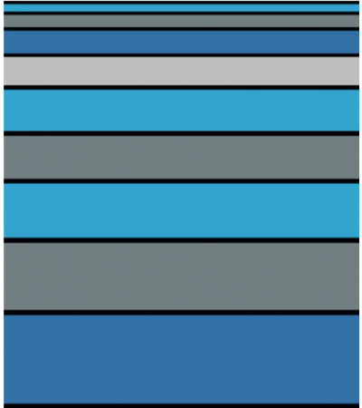 Telo Mare Matrimoniale Stripe Blu