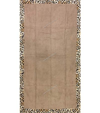 Telo Mare Malibù Leopard Bordo Stampato