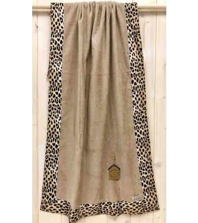 Telo Mare Okoa Skin Leopard Bordo Stampato