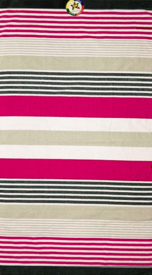 Telo mare Righe Side Woven Fuxia