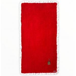 Telo Mare Rosso Bordo Sangallo