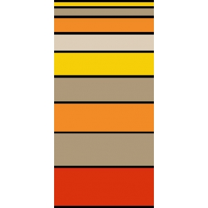 Telo Mare Stripe Degrade' Arancione