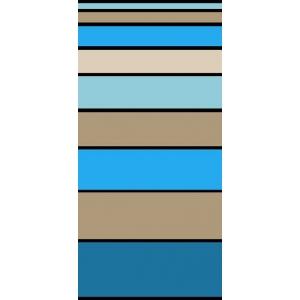 Telo Mare Stripe Degrade' Azzurro