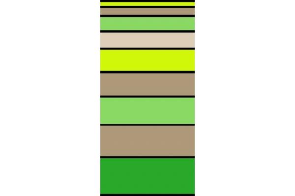 Telo Mare Stripe Degrade' Lime