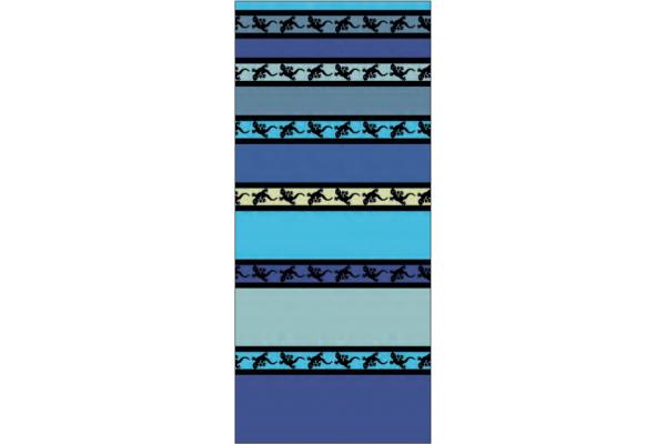 Telo Mare Stripe Geko Blu