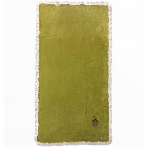 Telo Mare Verde Chiaro Bordo Sangallo
