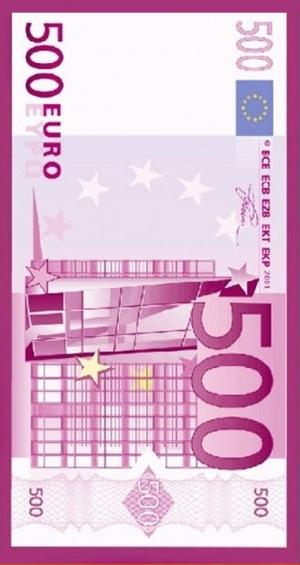 Telo Microfibra 500 Euro stampato