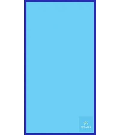 Telo Microfibra Bicolore Azzurro