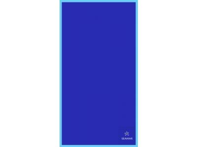 Telo Microfibra Bicolore Blu