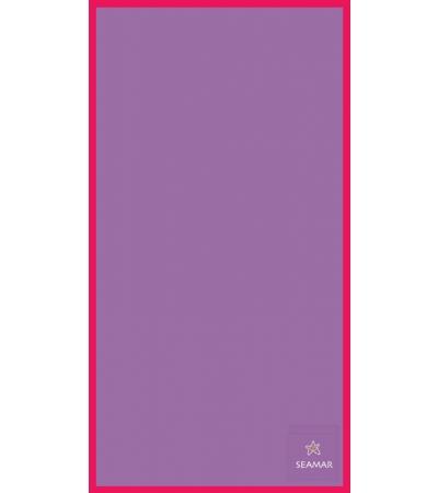 Telo Microfibra Bicolore Lilla