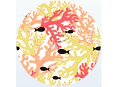 Telo Microfibra Stampato Coral Fish Giallo