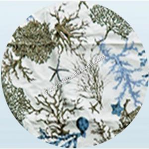 Telo Microfibra Stampato Corallo Azzurro