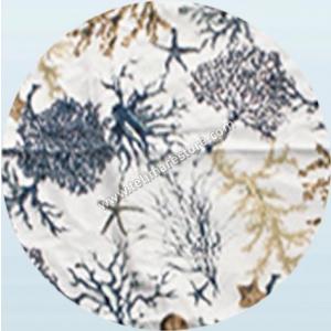 Telo Microfibra Stampato Corallo Blu