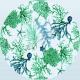 Telo Microfibra Stampato Corallo Verde