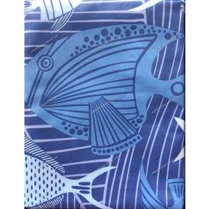 Telo Microfibra Stampato Oceanic Blu