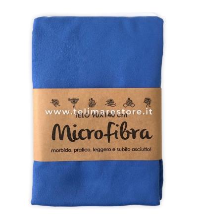 Telo Microfibra Tinta Unita Blu Royal 90x140cm