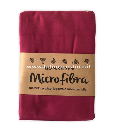 Telo Microfibra Tinta Unita Bordeaux 90x140cm