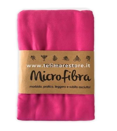 Telo Microfibra Tinta Unita Fucsia 90x140cm