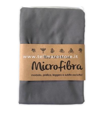 Telo Microfibra Tinta Unita Grigio 90x140cm
