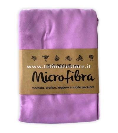 Telo Microfibra Tinta Unita Lilla  90x140cm