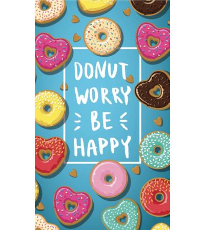 Telo Stampato Donuts Azzurro